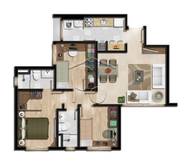 Portal Assessoria Imobiliária - Apto 2 Dorm (1254) - Foto 8