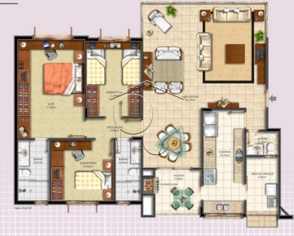 Portal Assessoria Imobiliária - Apto 3 Dorm (1265) - Foto 2