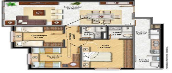 Portal Assessoria Imobiliária - Apto 3 Dorm (1556) - Foto 2