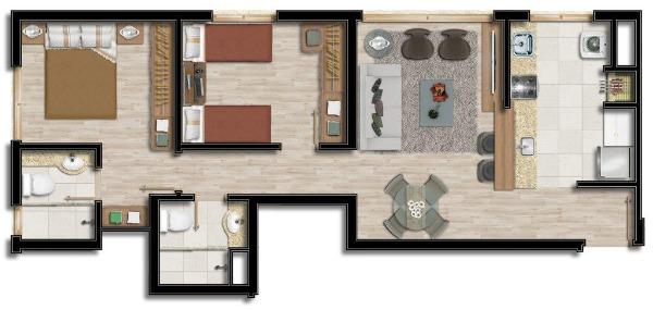 Portal Assessoria Imobiliária - Apto 2 Dorm (1788) - Foto 4